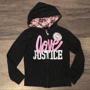 Justice Love Hoodie Size 8